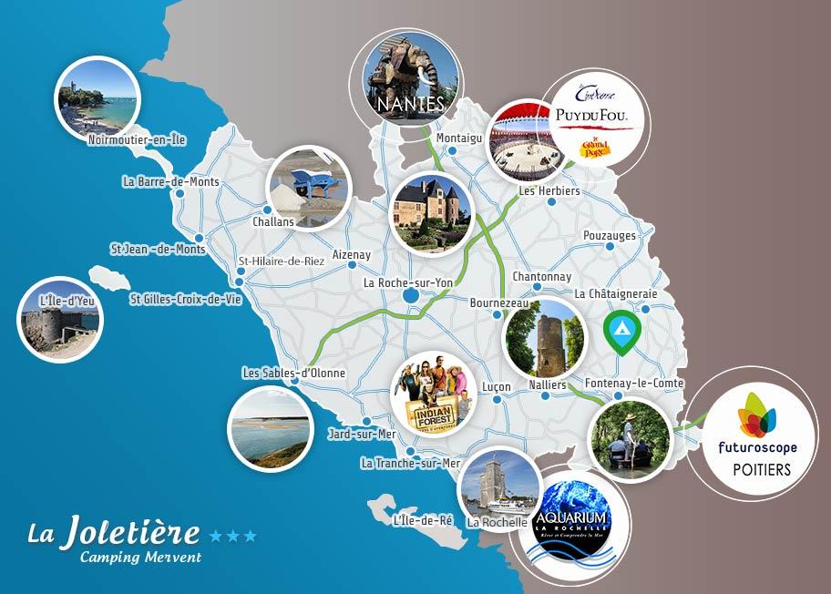 Carte de la Vendée - La Joletière